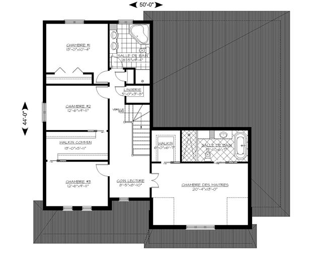 Plan de maison et/ou plan de rénovation de type Bi-génération