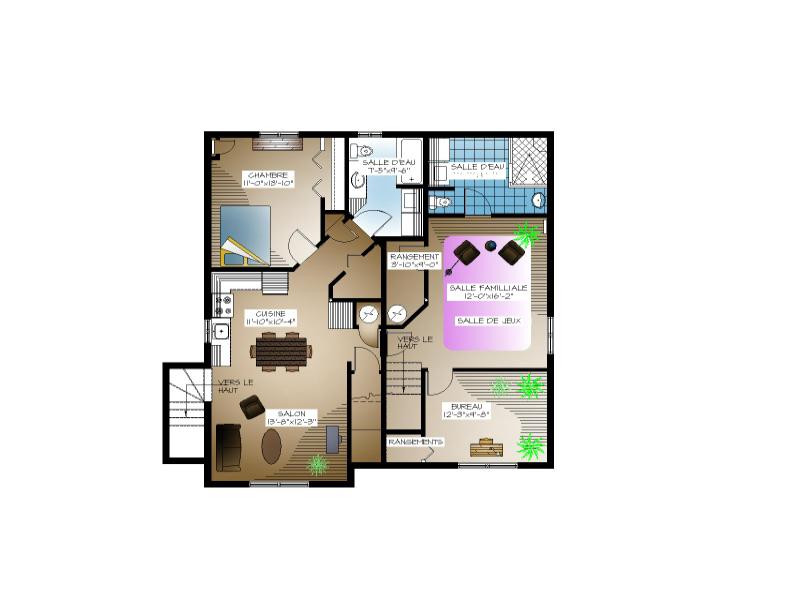 Plan de maison type plan maison 2 hambres plain pied for Plan maison type