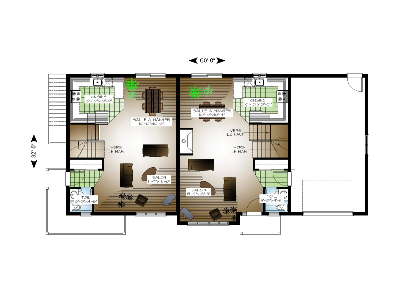 Plan de maison duplex joy studio design gallery best design for Plan de maison en duplex