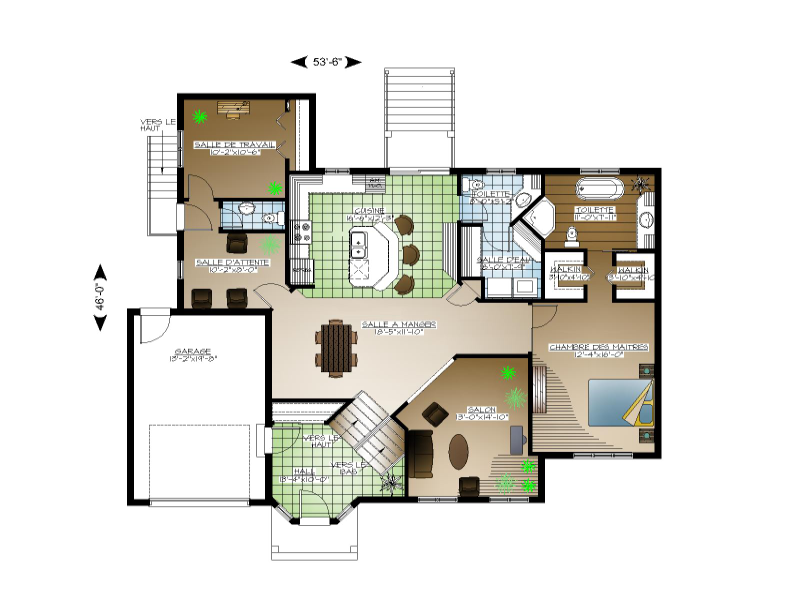 Plan de maison et ou plan de rnovation de type palier for Plans d une maison