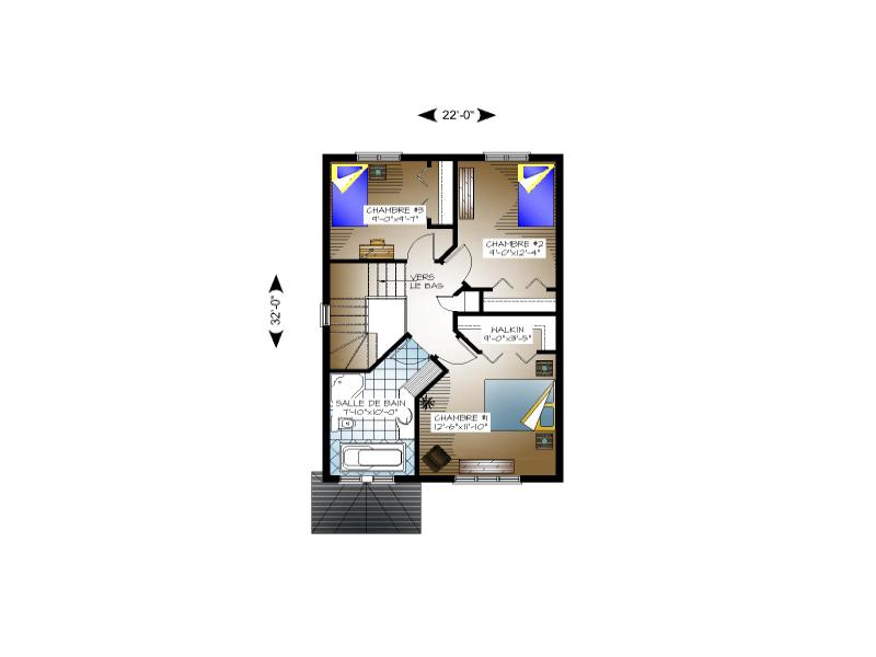 Plan de maison et ou plan de rnovation de type tage for Plan maison californienne