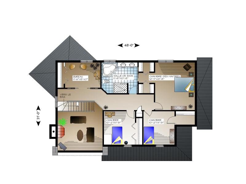 Plan de maison et ou plan de rnovation de type tage for Plan de maison avec sous sol