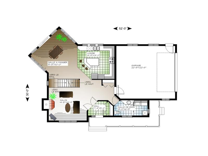 Plan de maison et ou plan de r novation de type tage for Maison avec garage sous sol
