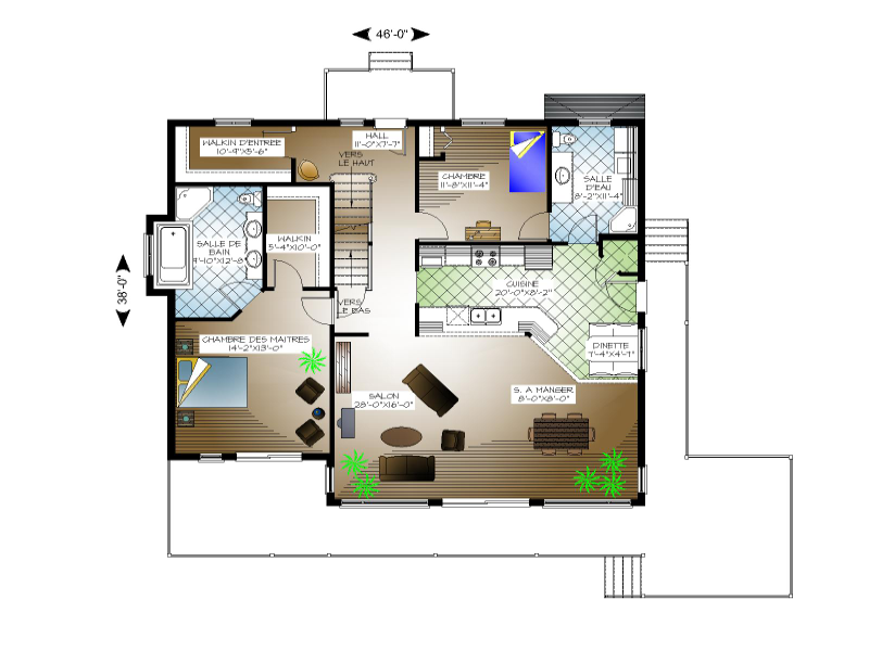 Plan de maison et ou plan de rnovation de type tage for Analyse air maison