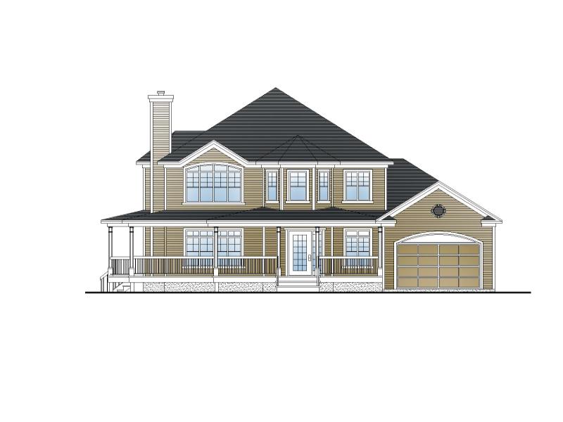 Plan de maison et ou plan de rnovation de type tage for Plan facade maison