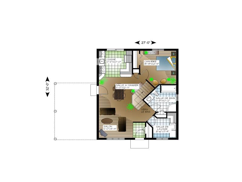Parfait Plan #00083   Rez De Chaussée. Coquette Petite Maison!
