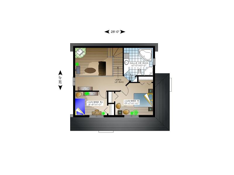 Plan de maison et ou plan de rnovation de type tage for Plan petite maison m