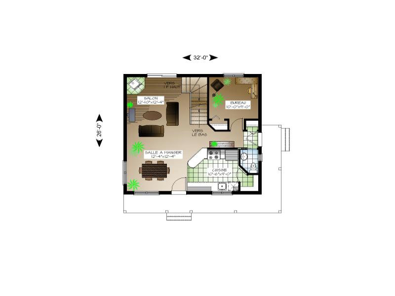 Plan de maison et ou plan de rnovation de type tage - Plan maison entree sud ...