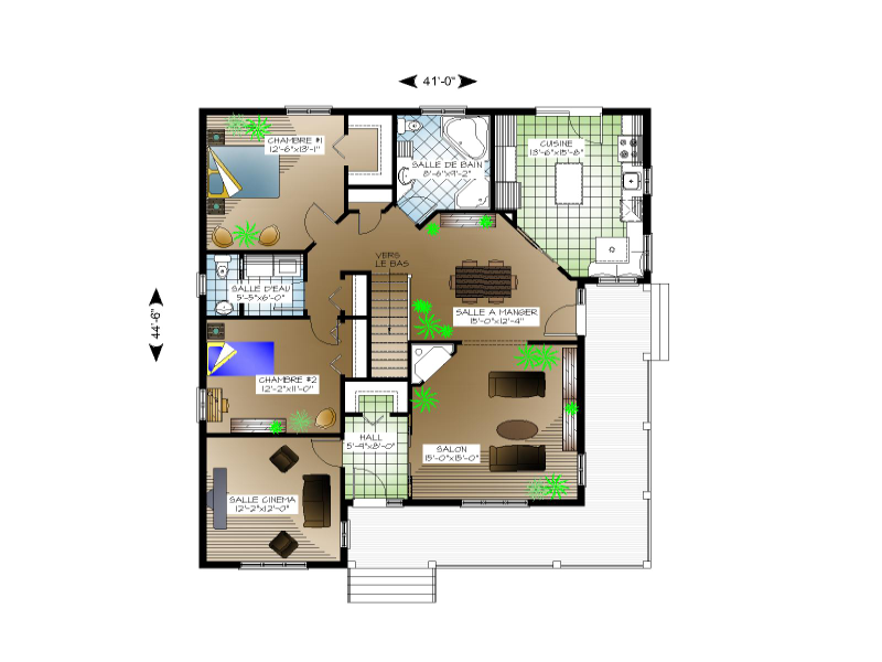 Plan de maison et ou plan de rnovation de type plain pied for Plan belle maison