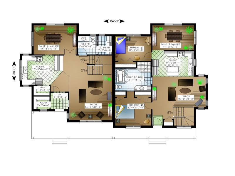 Plan de maison et ou plan de r novation de type plusieurs for Concepteur de plan de maison